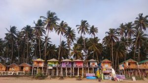 Beach Huts On Palolem